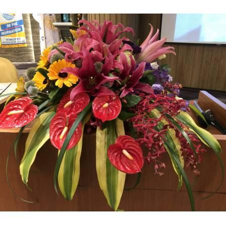 [E070]祝賀藝術盆花開幕喬遷榮陞結婚會場佈置