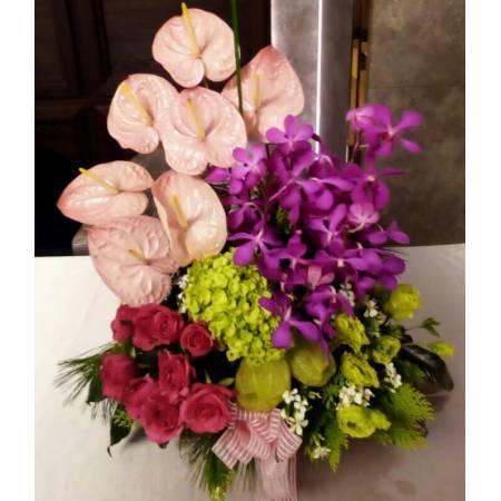 E078精緻盆花