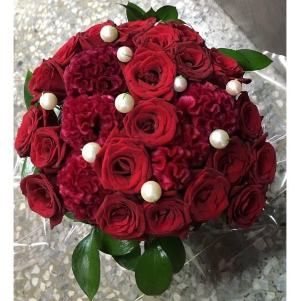 G019紅玫瑰珍珠