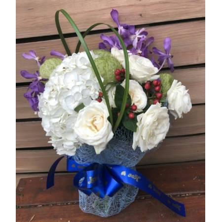 A057繡球玫瑰花束