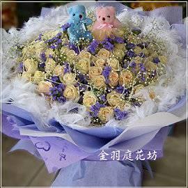 [A01]白玫瑰花束(一束)求婚花束