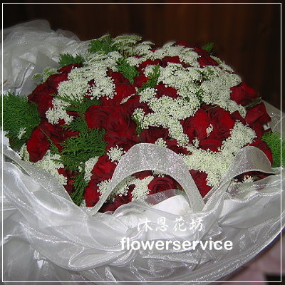 K003台北花店士林花店沐恩花藝情人節花束大型紅玫瑰花束求婚花束