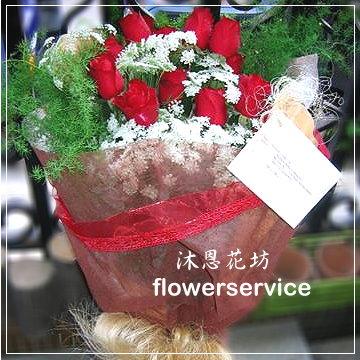 K002台北花店士林區花店沐恩花藝情人節花束紅玫瑰花束生日花束-k002