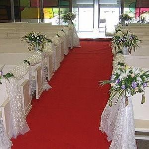 婚禮會場佈置-走道佈置