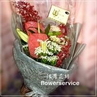 台北花店士林花店沐恩花藝訪友生日花束-k006