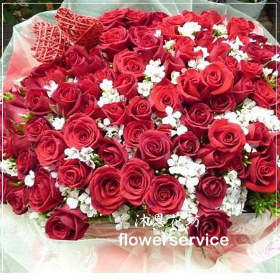 K007台北花店士林區花店沐恩花藝情人節花束大型紅玫瑰花束求婚花束-k007