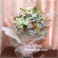 台北士林花店沐恩花藝情人節花束百合花束生日花束-k010