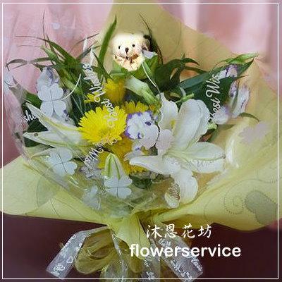 台北士林花店沐恩花藝情人節花束百合花束生日花束-k011