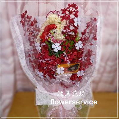 台北士林花店沐恩花藝情人節花束腎藥蘭康乃馨花束母親節生日花束-k015