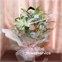 台北士林花店沐恩花藝畢業季花束百合花束生日花束