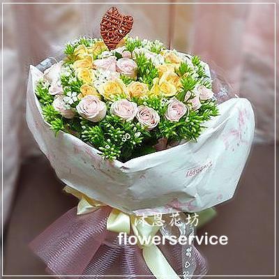 K016台北花店士林區花店沐恩花藝情人節花束紅玫瑰花束生日花束-K016