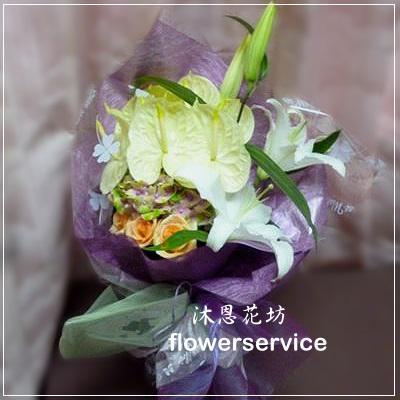 台北花店士林區花店沐恩花藝情人節花束生日花束-K017