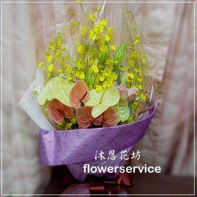 台北花店士林區花店沐恩花藝情人節花束紅玫瑰花束生日花束-K018