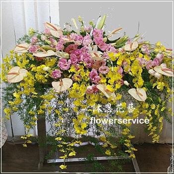 M054祝賀盆花喜慶盆花講台花會場佈置