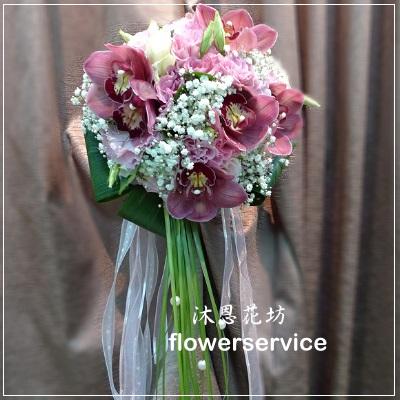 B002新娘捧花-北花店士林區花店沐恩花藝