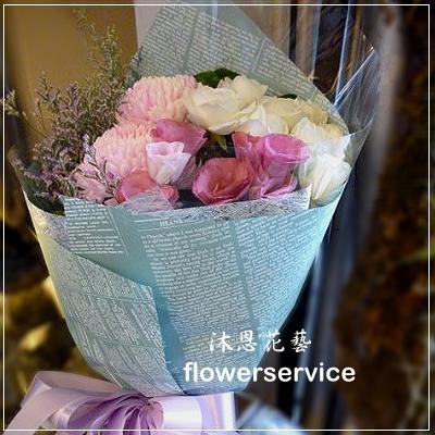 K023台北花店士林區花店沐恩花藝情人節花束生日花束桔梗花束-K023