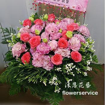M056祝賀盆花喜慶盆花新春花禮會場佈置