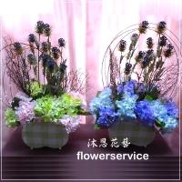 台北花店沐恩花藝人造花祝賀盆花喜慶盆花-M007