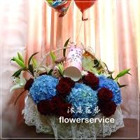 台北花店沐恩花藝祝賀盆花喜慶盆花會場佈置-M008