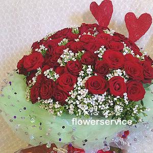 K080玫瑰花束大型花束求婚花束
