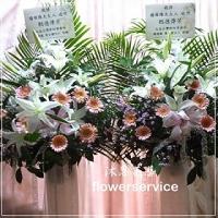 N015台北士林區花店沐恩花藝藝術花籃告別式花籃高架花籃(一對)
