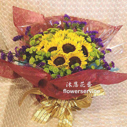 K087向日癸花束情人節生日花束父親節花束
