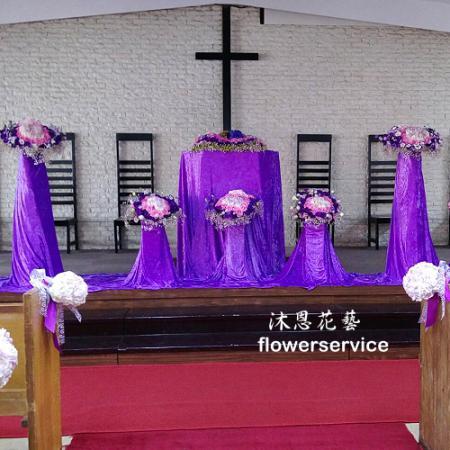 A019婚禮會場佈置教堂婚禮佈置