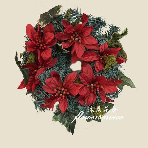 H002聖誕花圈歡樂聖誕布置花圈