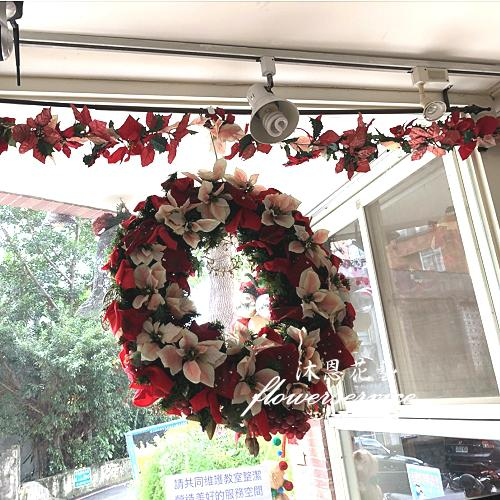 H006聖誕花圈歡樂聖誕布置花圈