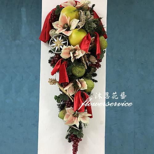 H008歡樂聖誕布置壁飾