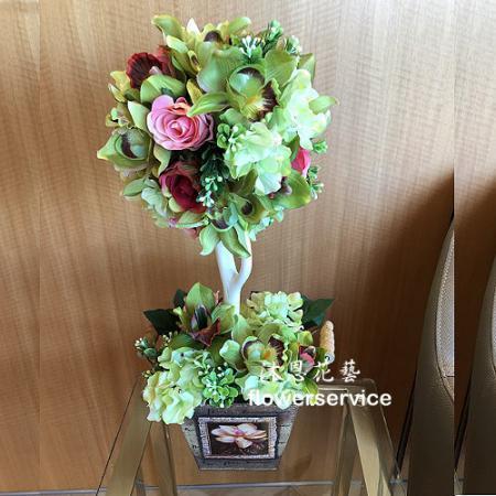 R006人造花盆花玄關或大廳佈置店面擺飾