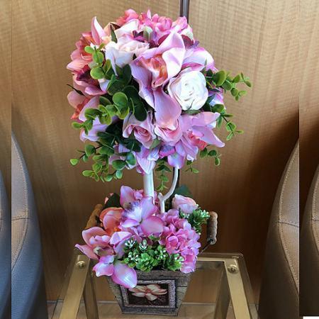 R007人造花盆花玄關或大廳佈置店面擺飾