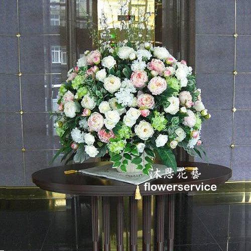 R012造花盆花玄關或大廳佈置店面擺飾