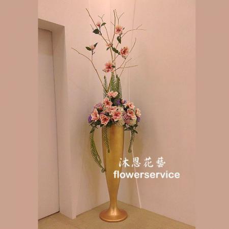 R013人造花盆花玄關或客廳佈置店面擺飾