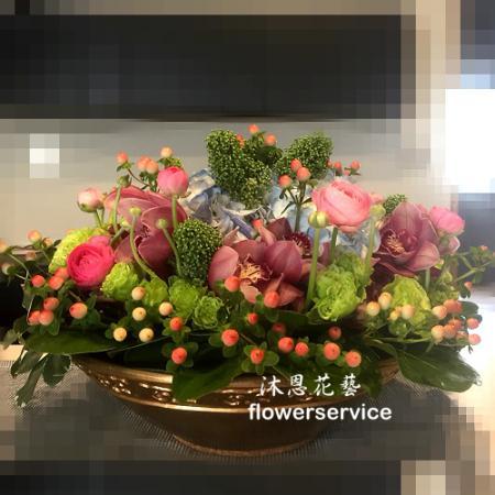 M061祝賀盆花喜慶盆花開幕喬遷盆花