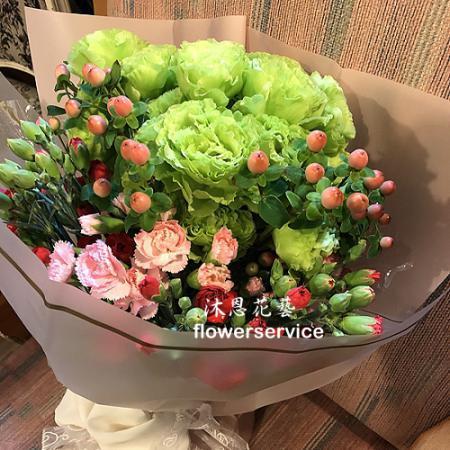 K093傳情花束母親節花束士林沐恩花藝