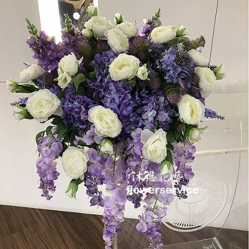 R024人造花盆花玄關或客廳佈置店面擺飾