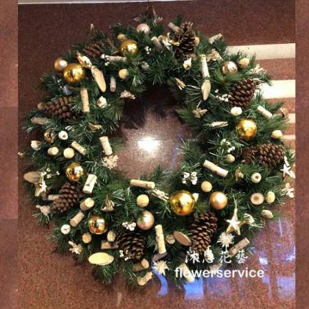 H024聖誕花圈歡樂聖誕布置花圈