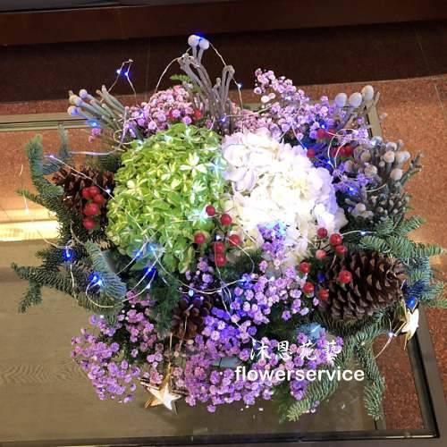 M074祝賀盆花喜慶盆花聖誕盆花