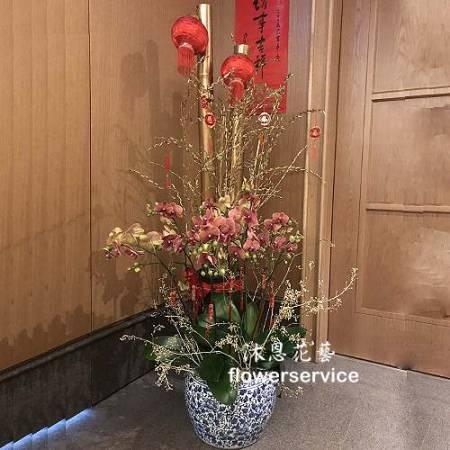M078新春盆花精緻盆花祝賀盆花新春布置