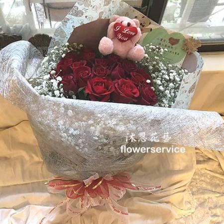 K097玫瑰花束情人節花束生日特殊節日花束