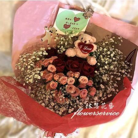 K099玫瑰花束情人節花束生日特殊節日花束