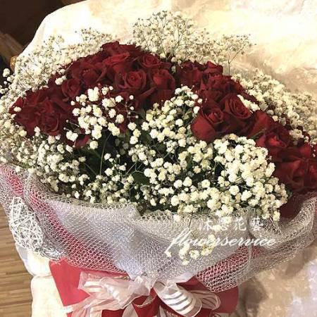 K100玫瑰花束情人節花束求婚花束