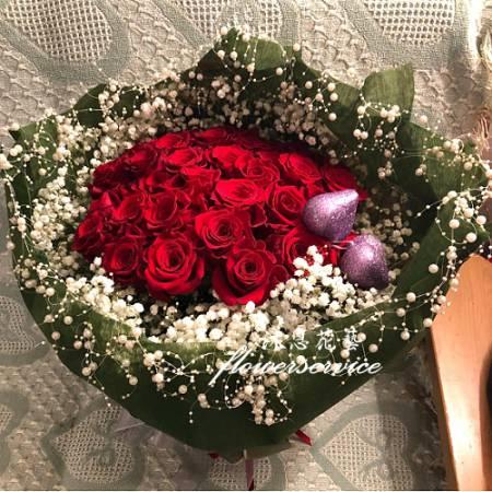 K105玫瑰花束情人節花束求婚花束