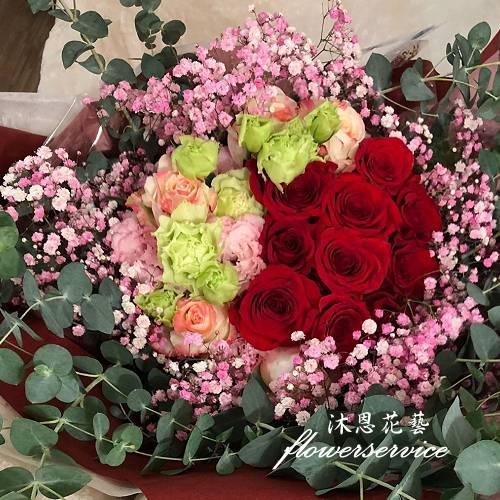 K109回憶滿滿情人節花束玫瑰桔梗花束