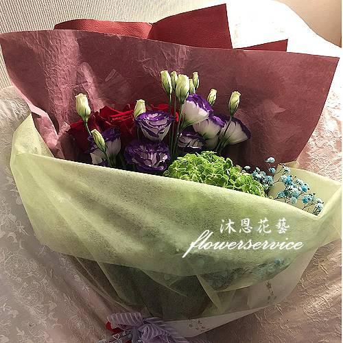 K110說我愛你進口玫瑰花束情人節花束