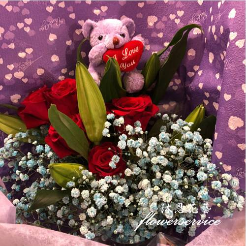 K111你是我的唯一進口玫瑰花束情人節花束