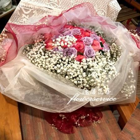 K112玫瑰花束情人節束台北士林花店