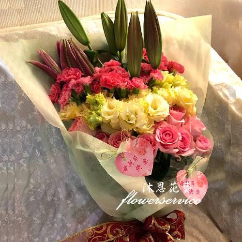 K114滿滿的愛母親節花束店主推薦