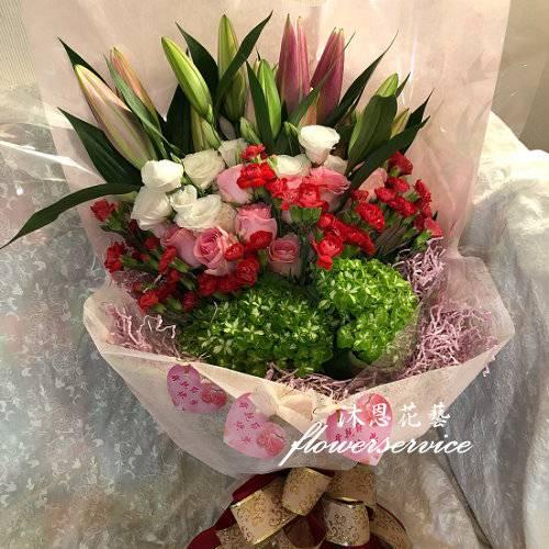 K115溫馨的愛母親節花束熱賣商品